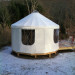 16' Diameter Yurt - White Top and Sides