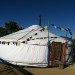 2 Mongolian yurts offered. 33′ orange paint , felt package also
