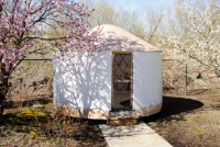 "NEW unused 12ft diameter ""sparrow"" yurt from Rainier Industries"
