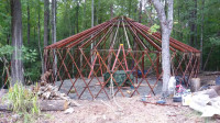 26\' Yurt Frame and Roof Canvas