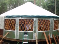 30ft yurt on private island Sinclair, WA
