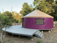 Beautiful 24ft Pacific Yurt kit with deck