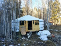 21′ traditional Ger with insulated deck