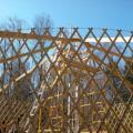 Yurt frame.
