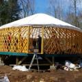 Yurt with liner attached.
