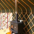 our woodburner, handmade here in the u.k by local blacksmith