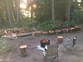 Fire pit outside the yurt!