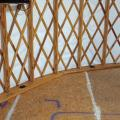 The picture highlights the base blocking under the Yurt frame. Base blocking provides a number of advantages - including raising the overall Yurt...
