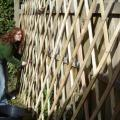 Rae helping with the bolting on the khana.