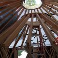 Yurt Workshop, building a 10' yurt inside a 20' yurt during a snow storm.
