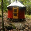 Approach to Surely 10' Yurt.