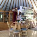 dining, kitchen, loft... bed behind hutch at floor level
