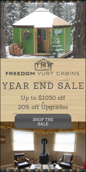 Freedom Yurt Cabins Year End Sale